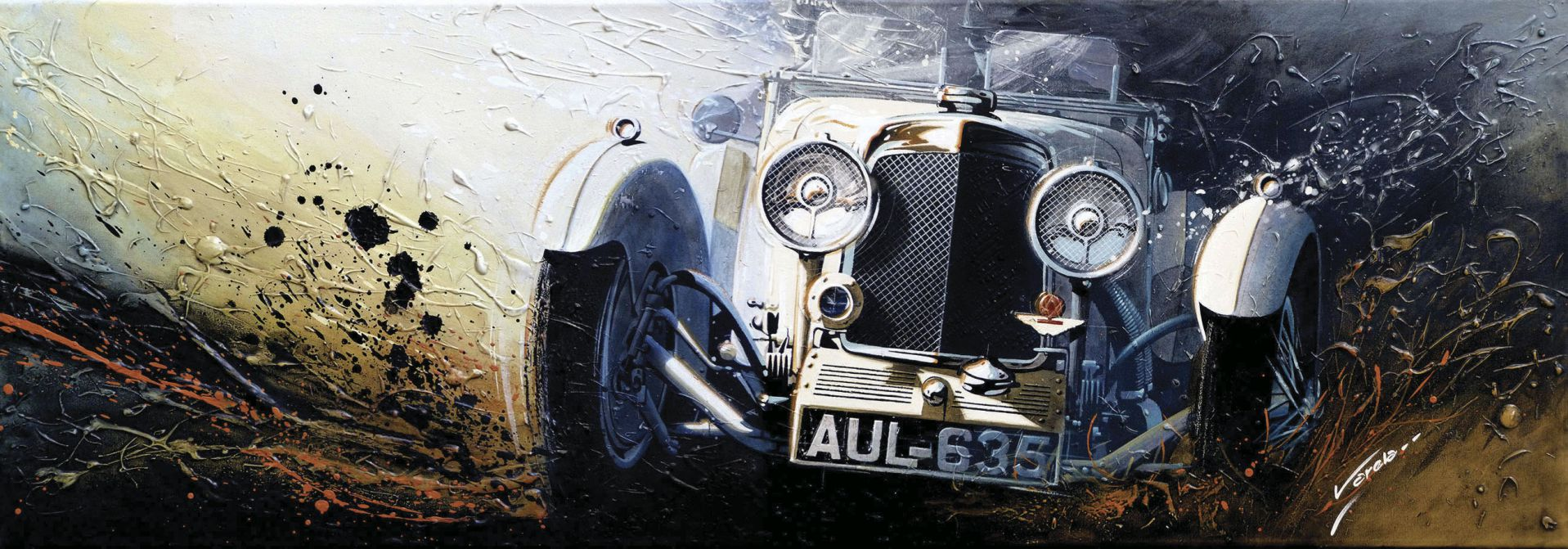 Rafael: Aston Martin Le Mans (acrílico sobre tela)